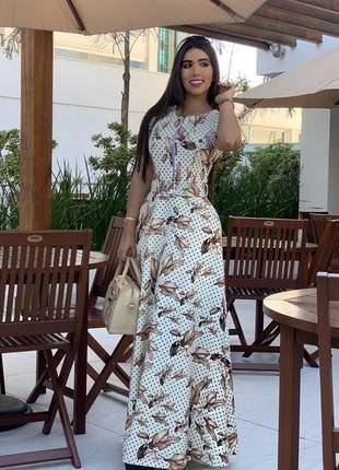 Vestido longo estampando