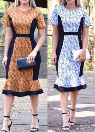 Vestido moda evangélica mídi ref 613