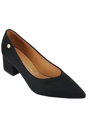 Sapato scarpin vizzano salto baixo grosso 1220 preto