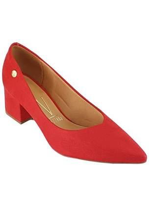 Sapato scarpin vizzano salto baixo grosso 1220 vermelho