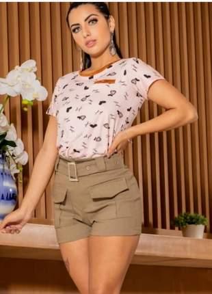 Shorts bengaline lançamento com detalhes modelo verão 2019
