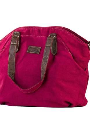 Bolsa de lona  violeta - cintos exclusivos - feminino