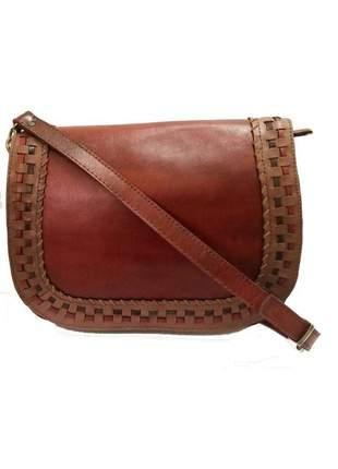 Bolsa de couro legítimo vermelha - cintos exclusivos - feminino