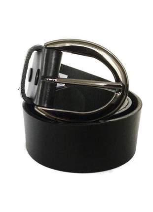 Cinto de couro legítimo preto com fivela ônix  - 4 cm - cintos exclusivos - feminino