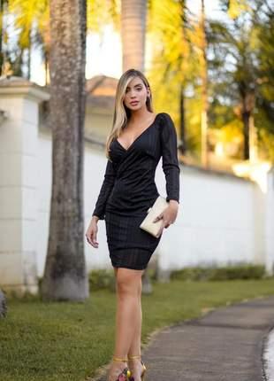 Vestido preto curto balada festa - frete grátis