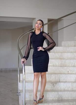 Vestido balada festa preto - brilho - frete grátis