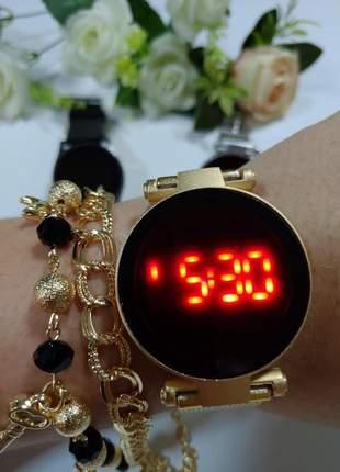 Lançamento relógio digital  com hora e data