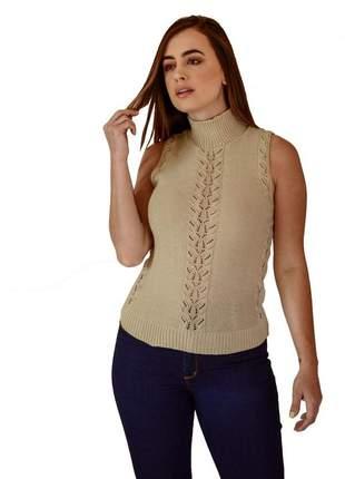 Blusa básica areia moda feminina verão