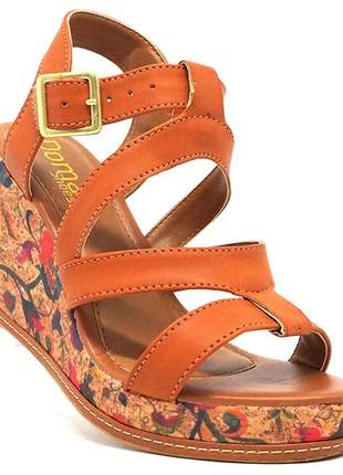 Sandália feminina plataforma doma shoes marrom