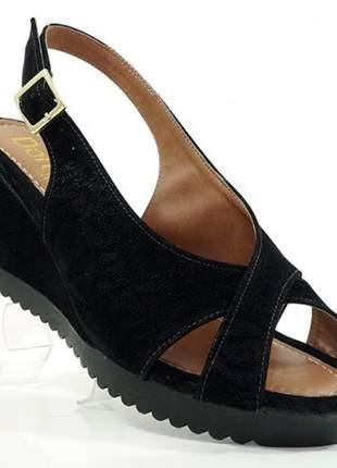 Sandália feminina plataforma doma shoes preto