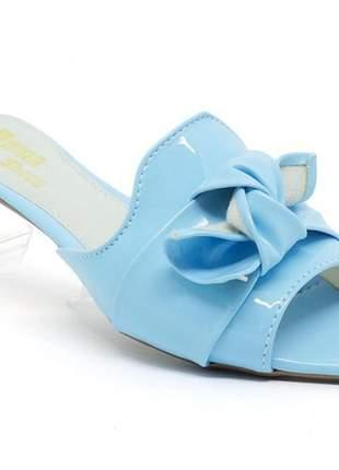 Sandália feminina rasteira doma shoes azul