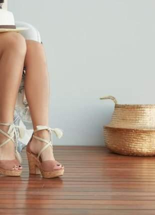 Sandália anabela amarração 2