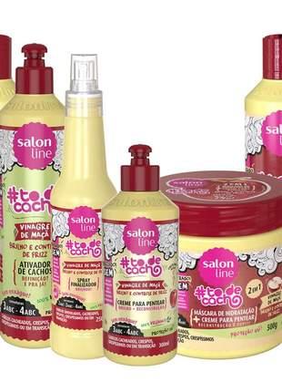 Salon line vinagre de maçã completo todecacho vegano liberado 06 produtos