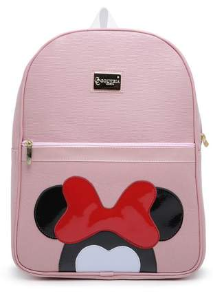 Mochila feminina gc mickey bolsa rosa notebook frete grátis
