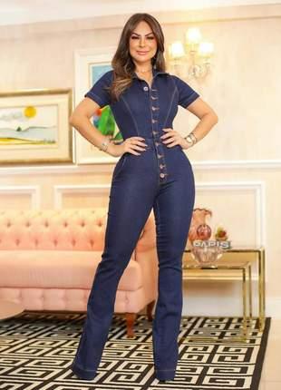 Macacão jeans flare