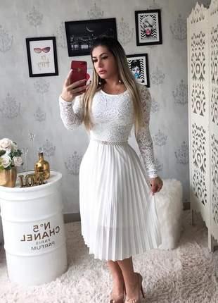 Vestido midi plissado
