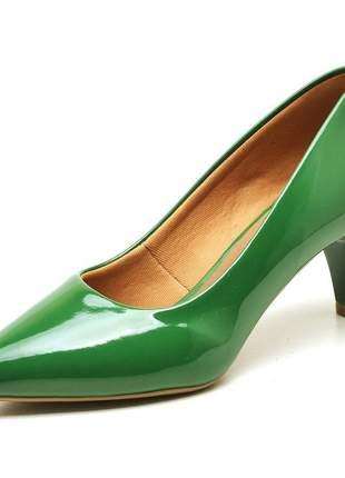 Sapato social feminino scarpins laranja verde bandeira baixo fino