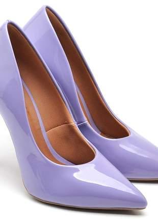 Sapato social feminino scarpins lavanda salto alto fino