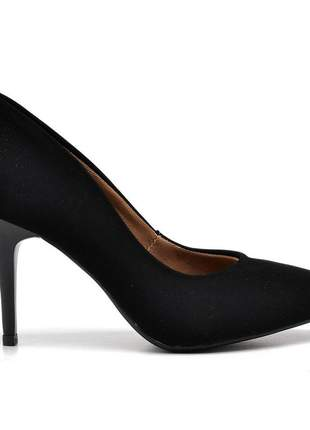 Sapato social feminino scarpins nouck preto salto alto fino