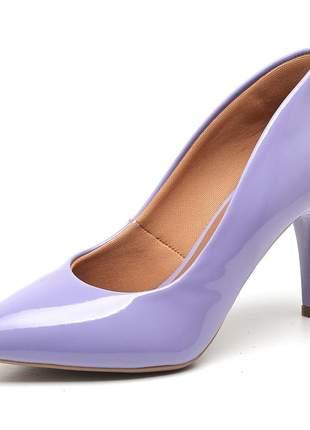Sapato social feminino scarpins  lavanda  salto medio fino