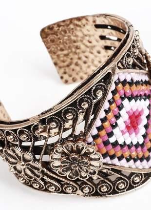 Bracelete feminino dourado