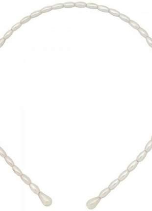 Tiara de perola oval fina
