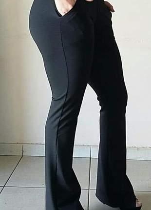 Calça feminina flare suplex
