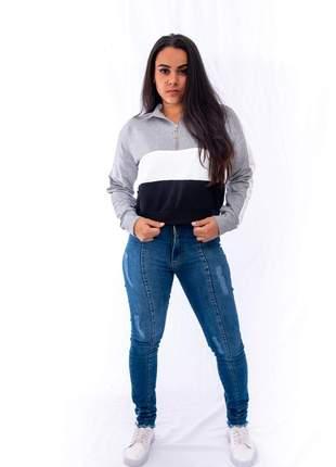 Calça skinny jeans azul