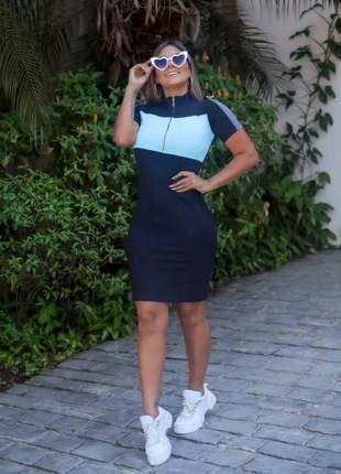 Vestido midi zíper