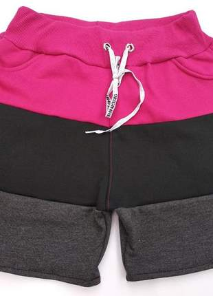 Short feminino em moletom tamanhos p,m,g,gg
