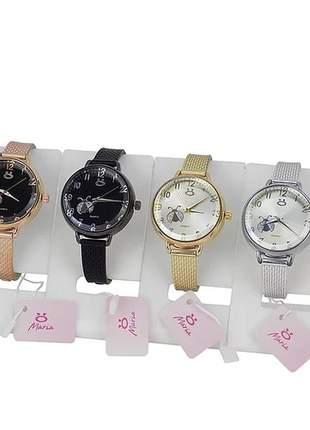 Kit 4 relógios feminino super fashion