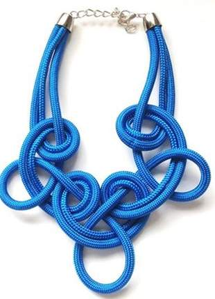 Colar de corda loop azul