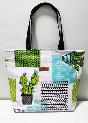 Bolsa estampa cactus