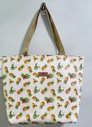 Bolsa estampa abacaxi