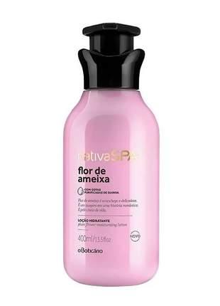 Loção hidratante corporal nativa spa flor de ameixa loção hidratante corporal 400ml