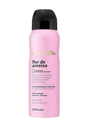 Aerosol antitranspirante nativa spa flor de ameixa aerosol antitranspirante 75g