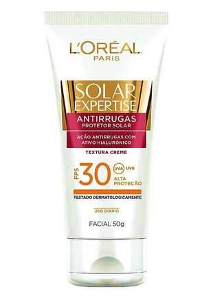 Protetor facial antirrugas solar expertise fps 30 l'oréal paris - 50g