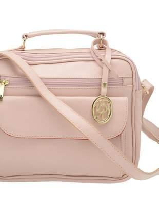 Bolsa bw casual 446 em couro rosa