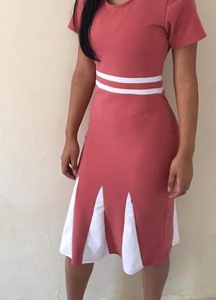 Vestido evangélicos midi moda ref 602