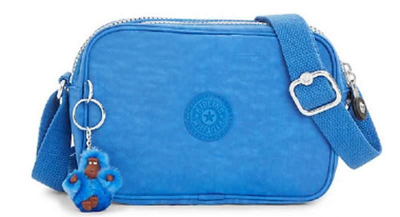 25f2a3a28 Bolsa kipling dee azul saxony importada 100 % original - R$ 265.00 ...