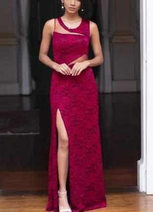 Lindo vestido longo de festa marsala casamento madrinhas formatura