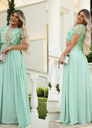 Vestido fasciniu's fascinius com cropped evangelica feminina