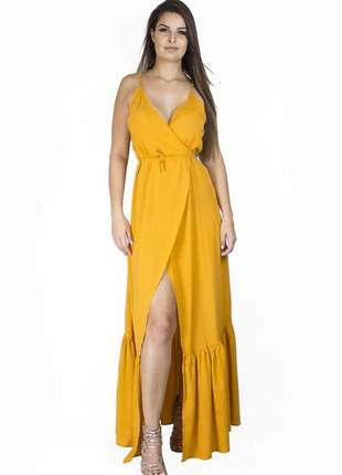 Vestido dress code moda laranja