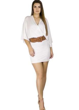Vestido dress code moda branco