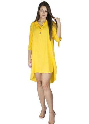 Vestido chemise dress code moda amarelo