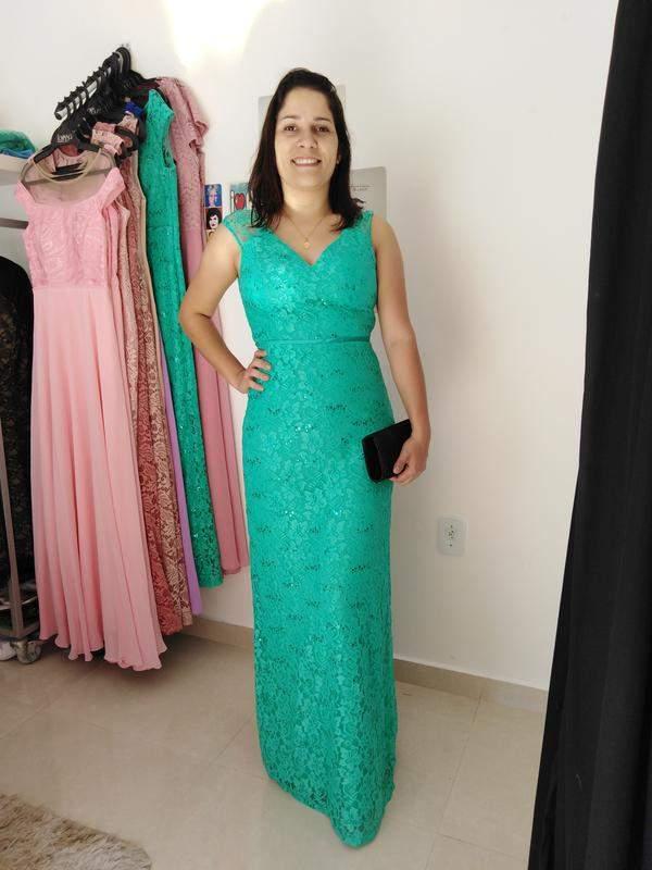 Vestido Verde água Longo Festa Madrinha Casamento De Dia Formanda Aniver R 18000 Shafa O Melhor Da Moda Feminina