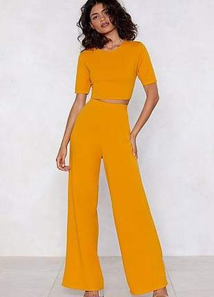 Conjunto blusa e calça moda festa