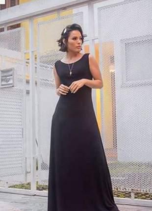 Vestido longo viscolycra