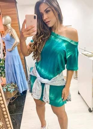 Vestido tie dye verde